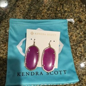 Kendra Scott Purple Jade Danielle Earrings